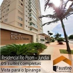 Apartamento decorado, 05 suítes e vista para o Parque Ipiranga: Residencial Rio Pisom