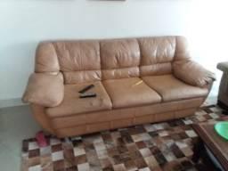 Conjunto de sofás de couro