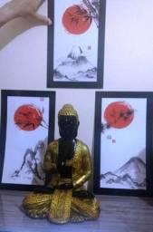 Estátua do Buda com placas decorativas de pvc