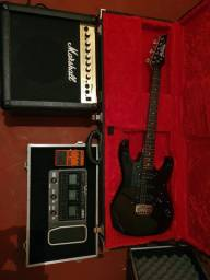Kit Guitarra ibanez RG gio,Amp Pedaleira