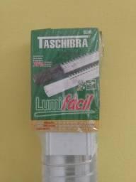 Luminária Lumifácil 2x36w Branca Taschibra - Nova
