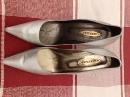 Sapato social cavazzale cor prata semi -novo