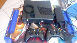 Xbox 360 Slim Desbloqueado RHG HD 140gb * troco por Xbox One