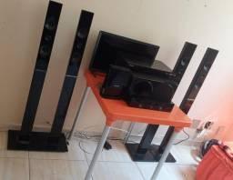 Home theater Samsung 5.1 canais, blu-ray, bluetooth, FM, usb - requer manutenção