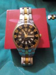 Relógio Technos fundo preto. Original. Prova d`água