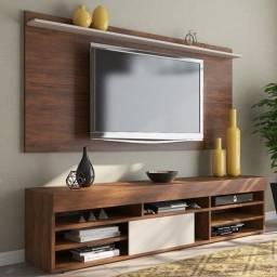 Rack com Painel Twin para TV até 55 polegadas ? Imbuia/Off White