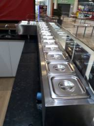 Condimentadora refrigerada nova barato para vender logo