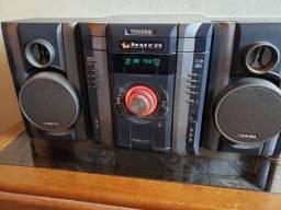 Aparelho de som 3 CD e toca fita