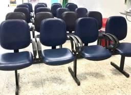 Longarina de 4 e 5 cadeiras
