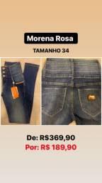 Calca jeans morena rosa