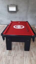 Mesa de Bilhar Preta TX Tecido Vermelho Personalizada Internacional Modelo IBPK191854