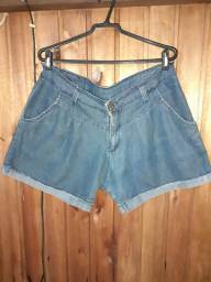207 - Short cintura baixa azul - Tam 46
