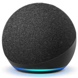 Promoção!! Alexa Echo Dot (4ª Geração) Nacional- Smart Speaker - Nova Lacrada - Cor Preta