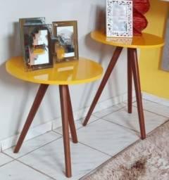 Mesas retrô d MDF e madeira