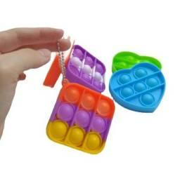 Chaveiro Pop It Fidget Brinquedo Antistress Bolha Silicone promoção barato atacado