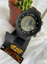 Relógio digital xufeng Prova d'água caixa média
