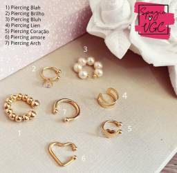 piercing fake - vários modelos