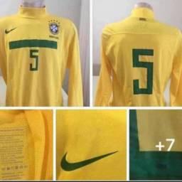 Camisa seleção brasileira brasileira de jogo  G 73x55