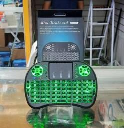 Mini teclado wireless com touchpad (TV box e TV smart)