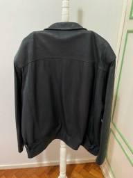 Jaqueta couro natural autêntica