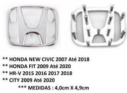 Emblema Cromado Logo Volante Letra H Honda New Civic