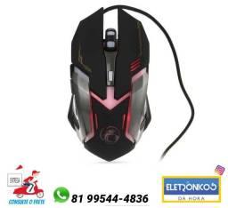 Mouse Game Ergônomico V6 Usb 2400dpi 6 Botões Hmaston só zap