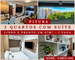 2 Quartos   Suíte - 1 Vaga em Vela Branca Boulevard - Pituba
