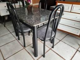 Título do anúncio: Mesa 4 cadeiras mármore