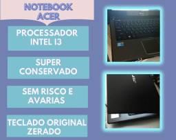 Notebook Acer I3 / 320gb de HD / 3g de memória/ vdeo Intel graphics