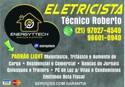 Eletricista + material Instalação Pedido de Relógio + Kit Padrão Light + Montagem inclusa