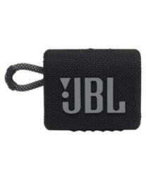 Caixa de Som Portátil JBL Go 3 com Bluetooth 5.1, Entrada USB-C, À prova d?água, Preto
