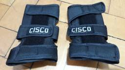 Kit De Proteção Cisco Skate Profissional - Joelheira/Cotoveleira/Munhequeira