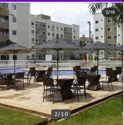 Apartamento para aluguel em condomínio clube.