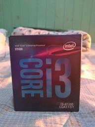 Processador i3 8100, 3.6 GHZ, 4 núcleos e 4 trads.