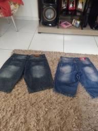 Bermudas jeans ou alastana leia descricao