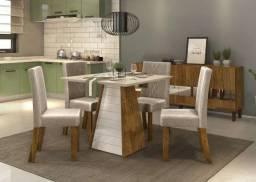 Mesa de jantar 4 Cadeiras Fler -- Entrega e montagem Na Hora