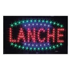 """Placa Led """"Lanche"""" 110v"""
