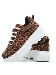 Kit 3 Par - Sneaker Chunky Plataforma Alta Exclusivo Onça Diamond<br><br>
