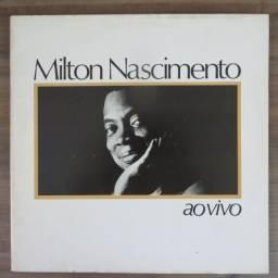 LP Disco De Vinil Milton Nascimento - Ao Vivo *capa dupla com encarte