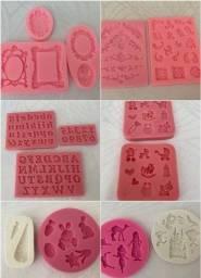 47 moldes de silicone para confeitaria artística