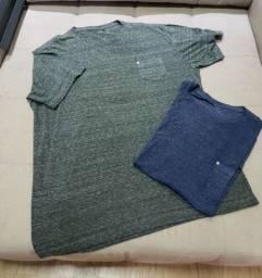 02 camisetas de malha tam GG- estonadas