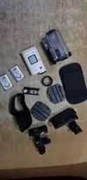 Título do anúncio: Action cam Sony hdr-as200v com duas baterias e acessórios
