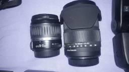 Câmera+flash+2 objetivas+cartao 2g e bolsa