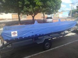 Imperdível!!. Kit de Pescador (Canoa, Motor, Capa Náutica e Bancos Almofadados) - 2016