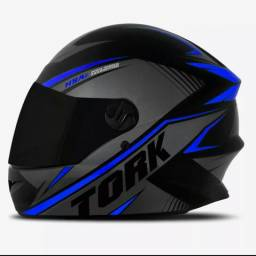 (Promoção)Capacete Moto ProTork R8 Viseira Cristal + Viseira Fumê +Toca Balaclava Grátis