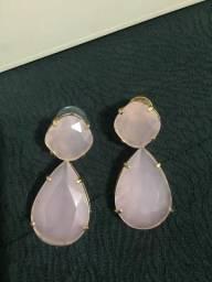 Brinco de pedra rose