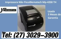 Impressora Não Fiscal Térmica MP-4200 TH - Bematech -Usada