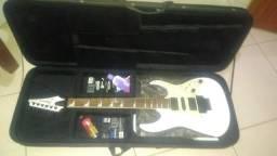 Guitarra ibanez RG350dxz branca + case novo