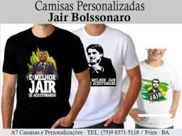 Camisa Bolsonaro - Todos tamanhos - Peça sua já