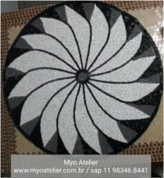 Mandala Mosaico, piso, parede, tampo de mesa, quadro